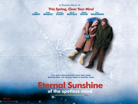 Eternal Sunshine of The Spotless Mind. movie on 2004. casting : Jim Carrey, Kate Winslet, Elijah Wood, Kirsten Dunst