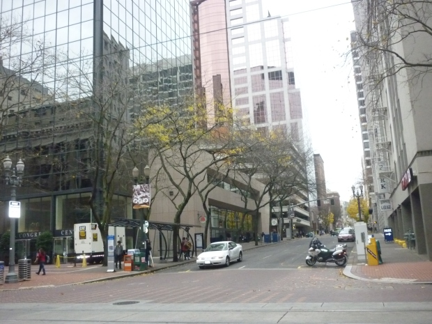 a quiet traffic in Portland