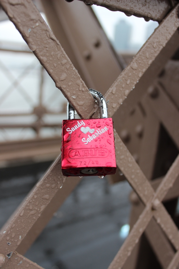 lock heart: found at Brooklyn bridge.