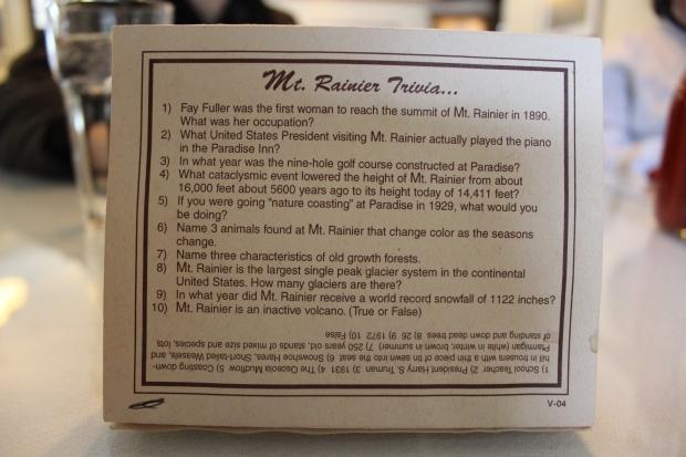Mount Rainier Trivia